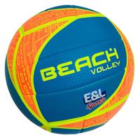 E&L Sports beachvolleybal oranje/blauw/geel