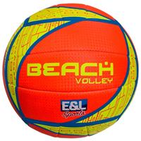 E&L Sports beachvolleybal roze/geel