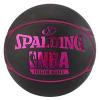 Spalding NBA Highlight 4HER Outdoor Basketbal zwart pink