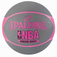 Spalding NBA Highlight Outdoor 4HER Basketbal grijs roze