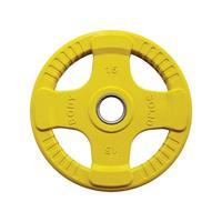 Body-Solid Gekleurde Olympische Rubber Halterschijf - Geel - 15 kg