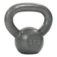 Sport-Thieme Kettlebell Hamerslag, geschilderd, grijs, 4 kg