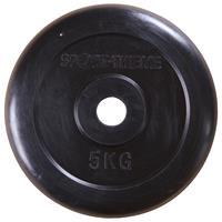 Sport-Thieme Halterschijven met rubber bekleed, 5 kg