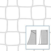 Kleinveld-/handbaldoelnet 80/100 cm, Wit, 5 mm