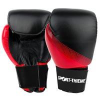 Sport-Thieme Bokshandschoenen Sparring, 8 oz., Zwart-rood