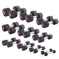 Sport-Thieme Compacte halter set rubber, 1-10 kg