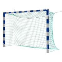 Sport-Thieme Zaalvoetbal 3x2 m, in grondbussen staand met gepatenteerde hoekverbinding, Blauw-zilver, Zonder netbeugel