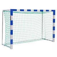 Sport-Thieme Mini-Handbaldoel 3x1,60 m, vrijstaand, Blauw-zilver, Gepatenteerde hoekverbinding