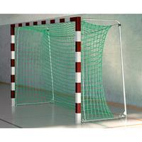 Sport-Thieme Zaalvoetbal 3x2 m, in grondbussen staand met gepatenteerde hoekverbinding, Rood-zilver, Met inklapbare netbeugels