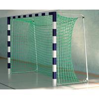 Sport-Thieme Zaalvoetbal 3x2 m, in grondbussen staand met gepatenteerde hoekverbinding, Blauw-zilver, Met inklapbare netbeugels