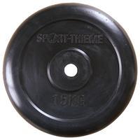 Sport-Thieme Halterschijven met rubber bekleed, 15 kg