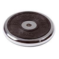 Sport-Thieme Halterschijf van chroom, 15 kg