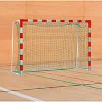 Sport-Thieme Handbal-doel met vaste netbeugel, Rood-zilver, IHF, doeldiepte 1,25 m