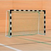 Sport-Thieme Handbaldoel met inklapbare netbeugels, Zwart-zilver, IHF, doeldiepte 1 m
