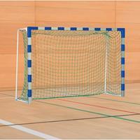 Sport-Thieme Handbaldoel met inklapbare netbeugels, Blauw-zilver, IHF, doeldiepte 1 m