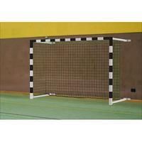 Sport-Thieme Zaalhandbaldoel 3x2 m, zwenkbaar, met wandbevestiging, Rood-zilver
