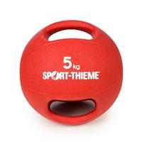 Sport-Thieme Medicinebal met handgrepen, 5 kg, Rood