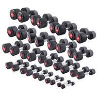 Sport-Thieme Compacte halter set rubber, 1-30 kg