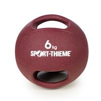 Sport-Thieme Medicinebal met handgrepen, 6 kg, Bordeaux