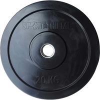 Sport-Thieme Halterschijven Bumper Plate, zwart, 20 kg