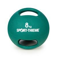 Sport-Thieme Medicinebal met handgrepen, 8 kg, groen