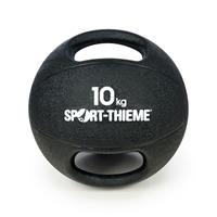 Sport-Thieme Medicinebal met handgrepen, 10 kg, Zwart