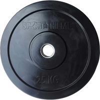 Sport-Thieme Halterschijven Bumper Plate, zwart, 25 kg