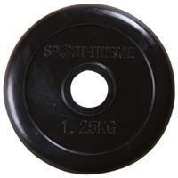 Sport-Thieme Halterschijven met rubber bekleed, 1,25 kg