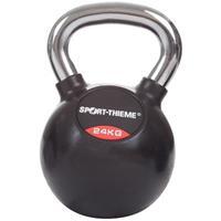 Sport-Thieme Kettlebell met rubber bekleed met gladde chromen handgreep, 24 kg