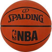 Spalding basketball NBA leer/rubber oranje