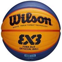 Wilson basketball Fiba 3x3 rubber geel/blauw