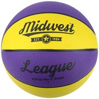 Midwest basketball League rubber geel/paars