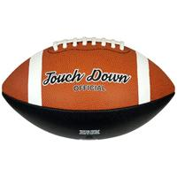 Midwest american football Touch Down official rubber oranje/zwart