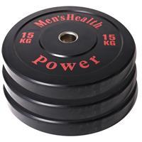 men'shealth Men's Health Bumper Plate - Halterschijf - 50 mm - 15 kg