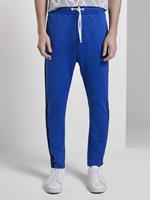 Tom Tailor jogging bodems met tape, Heren, bright king blue