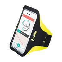 Celly smartphone sportarmband 16,4 x 8,5 cm zwart / geel