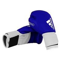 Adidas hybrid bokshandschoenen leer blauw