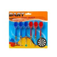 18x Dartpijlen rood en blauw 11,5 cm sportief speelgoed Multi