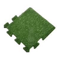 sporttrader Rubber Tegel met Kunstgras Toplaag - Zijstuk - Puzzelsysteem - 50 x 50 x 2,2 cm