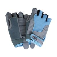 Fitness-Mad Fitness Mad fitness handschoenen dames leer/spandex blauw/grijs