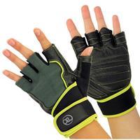 Fitness-Mad Fitness Mad fitness handschoenen heren leer zwart/groen