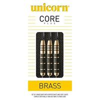 Unicorn Core Plus Win Brass dartset steeltip 21g messing zwart/goud