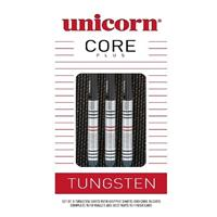 Unicorn Core Plus Win dartset steeltip 21g tungsten zwart/rood
