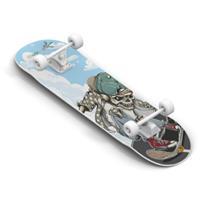 authentic sports & toys Skateboard Pro Abec 5, Skull
