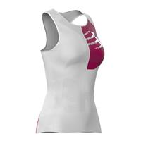 Compressport top postural ultra dames polyamide wit mt: M