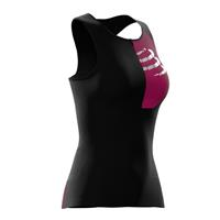 Compressport top postural ultra dames polyamide zwart mt: M