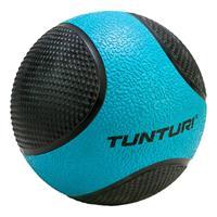 Tunturi fitnessbal Medicine 4 kg 19 cm rubber blauw/zwart
