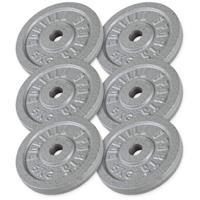 Halterschijven Voordeelbundel 30 kg (6 x5 kg) Gietijzer