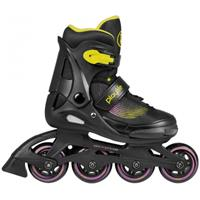 Powerslide inlineskates Playlife Joker junior zwart/geel/paars  40