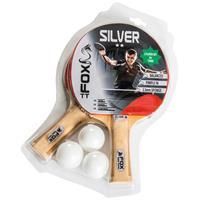 tafeltennisset Silver 2 Star 23 cm hout/rubber 5 delig